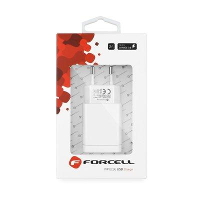 Ładowarka Sieciowa Forcell ze złączem USB  - 2,4A z funkcją Quick Charge 3.0